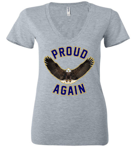 Proud Again Women's Deep V-Neck T-Shirt