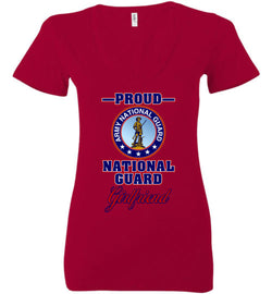 Proud National Guard Girlfriend Women's Deep V-Neck T-Shirt