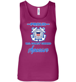 Proud U.S. Coast Guard Sponsor Women's Wide Strap Tank