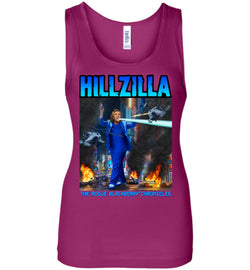 Anti-Hillary Hillzilla Bella Ladies Wide Strap Tank - by DV8s.com
