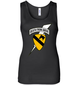 Death from Above - 1st Air Cav Army Bella Ladies Wide Strap Tank - by DV8s.com