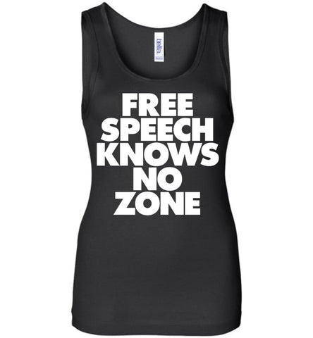 Free Speech Knows No Zone Bella Ladies Wide Strap Tank - by DV8s.com