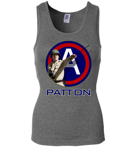 General Patton 3rd Army Women's Wide Strap Tank