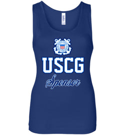 USCG Coast Guard Sponsor Women's Wide Strap Tank