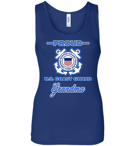 Proud US Coast Guard Grandma Women's Wide Strap Tank
