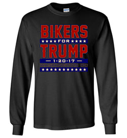 Bikers for Trump Long-Sleeve T-Shirt