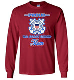 Proud US Coast Guard Mom Long-Sleeve T-Shirt