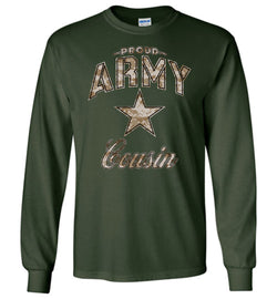 Proud Army Cousin Camo Long-Sleeve T-Shirt