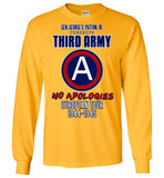 George S. Patton 3rd Army Gildan Long-Sleeve T-Shirt - by DV8s.com