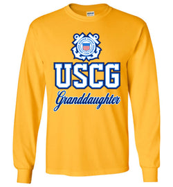 USCG Coast Guard Granddaughter Long-Sleeve T-Shirt