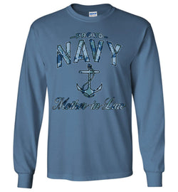 Proud Navy Mother-in-Law Long-Sleeve T-Shirt (Camo)