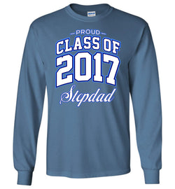 Proud Class of 2017 Stepdad Long-Sleeve T-Shirt