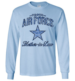 Proud Air Force Mother-in-Law Long-Sleeve T-Shirt (Camo)