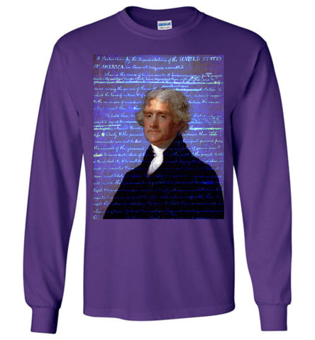 Jefferson's Declaration of Independence Gildan Long-Sleeve T-Shirt - by DV8s.com