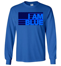 I AM BLUE Gildan Long-Sleeve T-Shirt - by DV8s.com