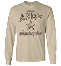 Proud Army Stepdaughter Camo Long-Sleeve T-Shirt