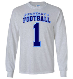Fantasy Football Hero Long-Sleeve T-Shirt (2-sided design)