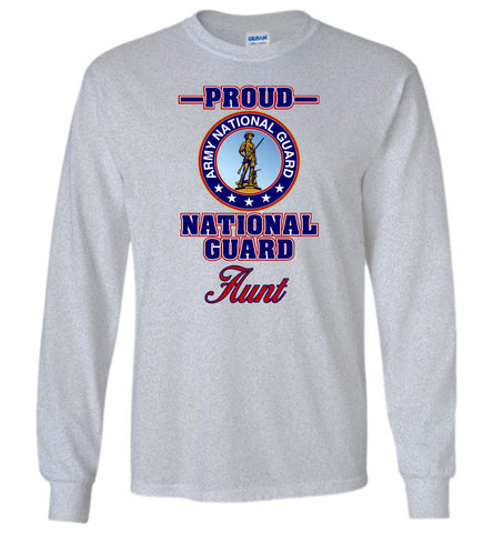 Proud National Guard Aunt Long-Sleeve T-Shirt