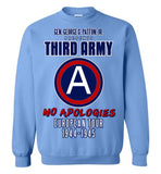 George S. Patton 3rd Army Gildan Crewneck Sweatshirt - by DV8s.com
