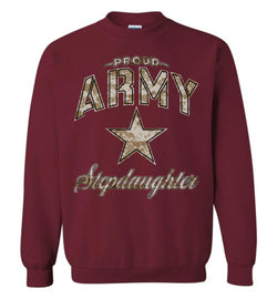 Proud Army Stepdaughter Camo Sweatshirt
