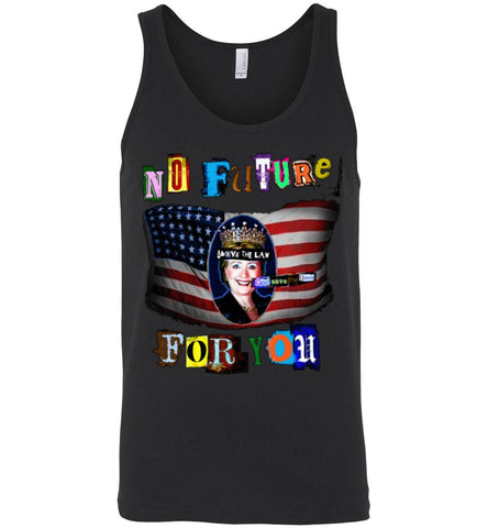 Anti-Hillary Punk Canvas Unisex Tank - by DV8s.com