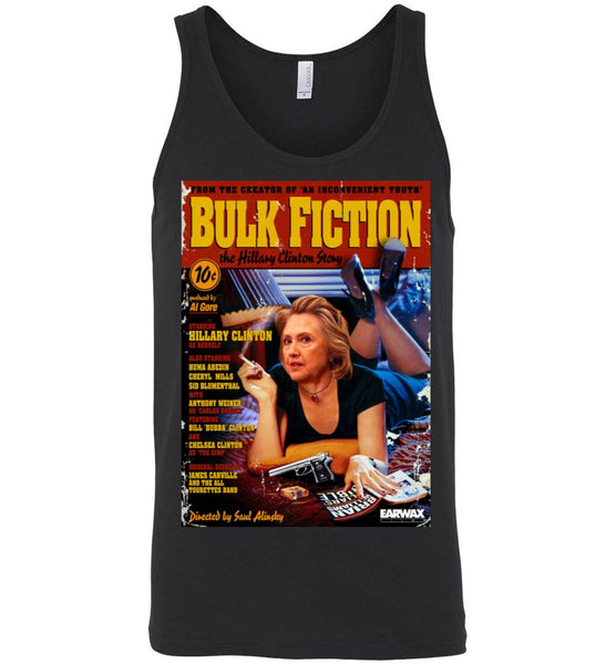 Anti-Hillary Bulk Fiction Canvas Unisex Tank - by DV8s.com