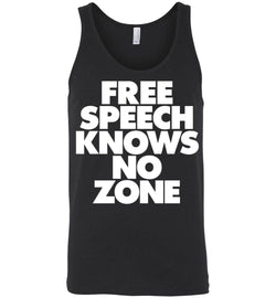 Free Speech Knows No Zone Canvas Unisex Tank - by DV8s.com