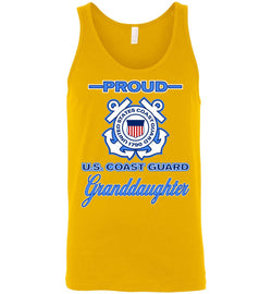 Proud U.S. Coast Guard Granddaughter Unisex Tank