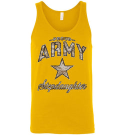 Proud Army Stepdaughter Camo Unisex Tank