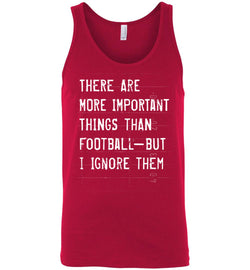 Funny Football Unisex Tank (More Important Things)