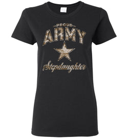 Proud Army Stepdaughter Camo Women's T-Shirt