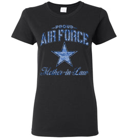 Proud Air Force Mother-in-Law Women's T-Shirt (Camo)