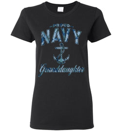 Proud Navy Granddaughter Women's T-Shirt (Camo)