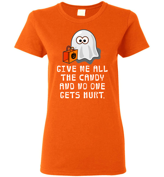 Women's Funny Halloween T-Shirt: Baby Ghost