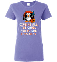 Women's Funny Halloween T-Shirt: Penguin Pirate