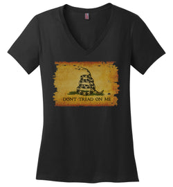 Women's Gadsden Flag V-Neck T-Shirt