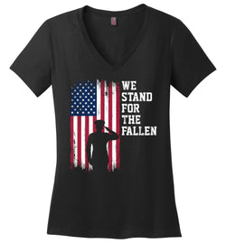 Women's We Stand for the Fallen V-Neck T-Shirt