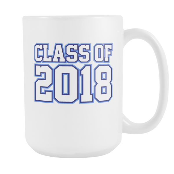 Class of 2018 Coffee Mug (Blue Design on White Cup)