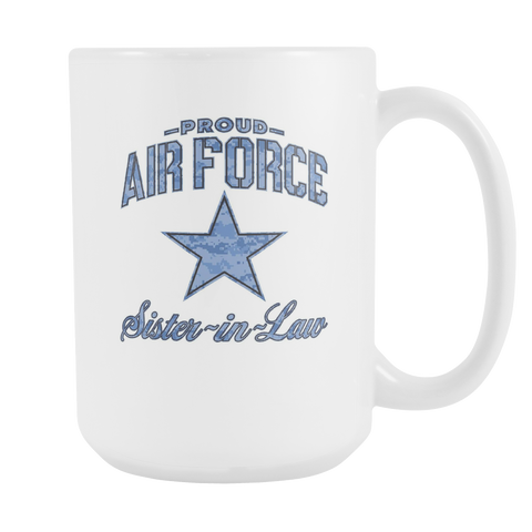 Air Force Sister-in-Law Coffee Mug (Camo)