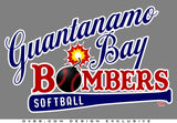 Guantanamo Bay Softball Canvas Unisex T-Shirt - by DV8s.com