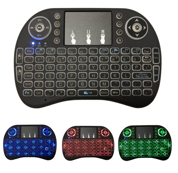 i8 Mini Wireless Keyboard With Backlit