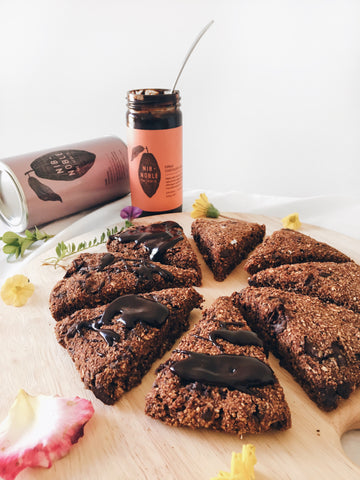 Triple Chocolate Oatmeal Scones