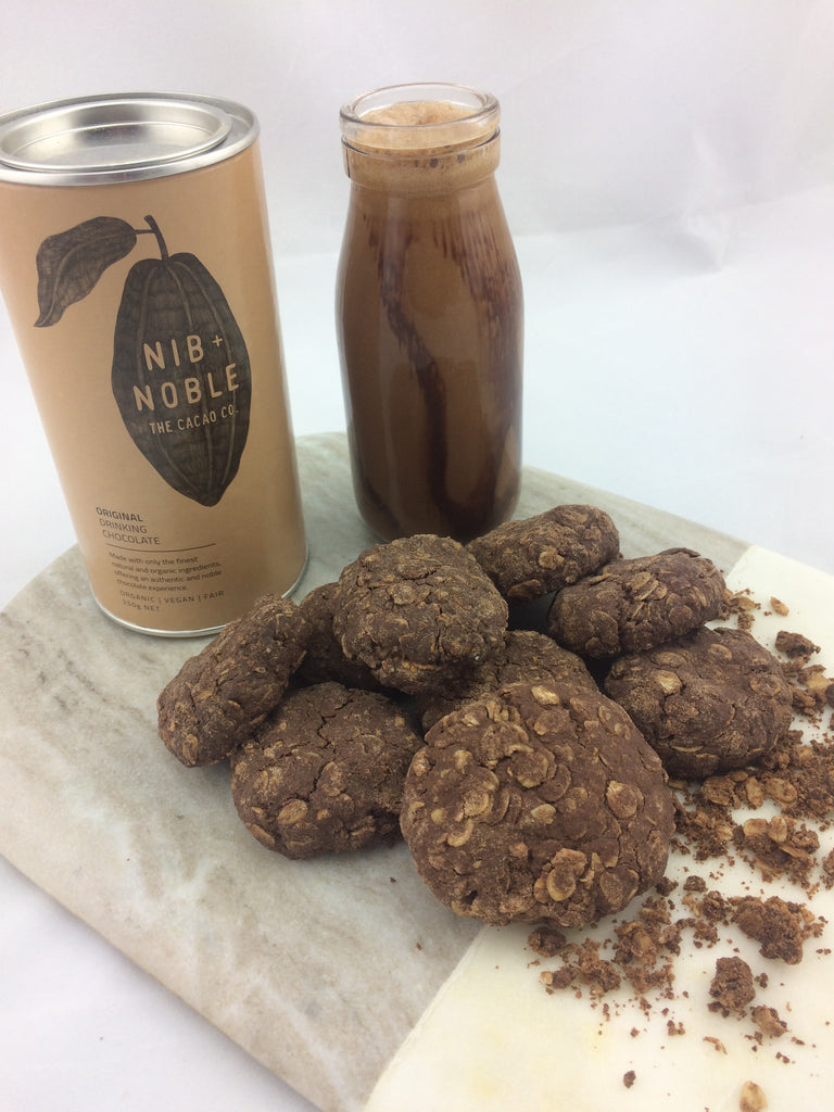 Easy Organic Rolled Oat Cacao Cookies