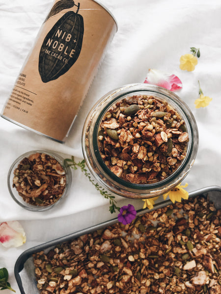 Crunchy and Chocolate-Y (+healthy) Granola