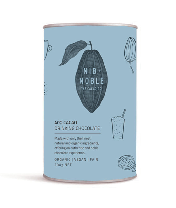 Nib and Noble Drinking Chocolate 40% Cacao Organic Drinking Chocolate