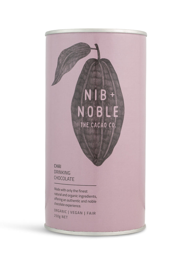 Nib and Noble Drinking Chocolate Chai Organic Drinking Chocolate