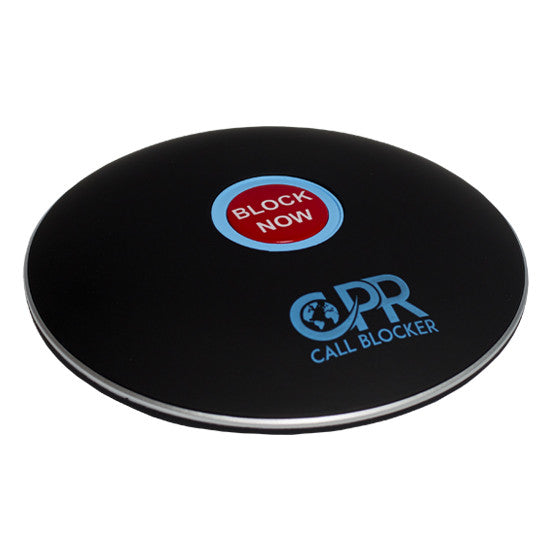CPR Call Blocker Shield - Matt Black - Side