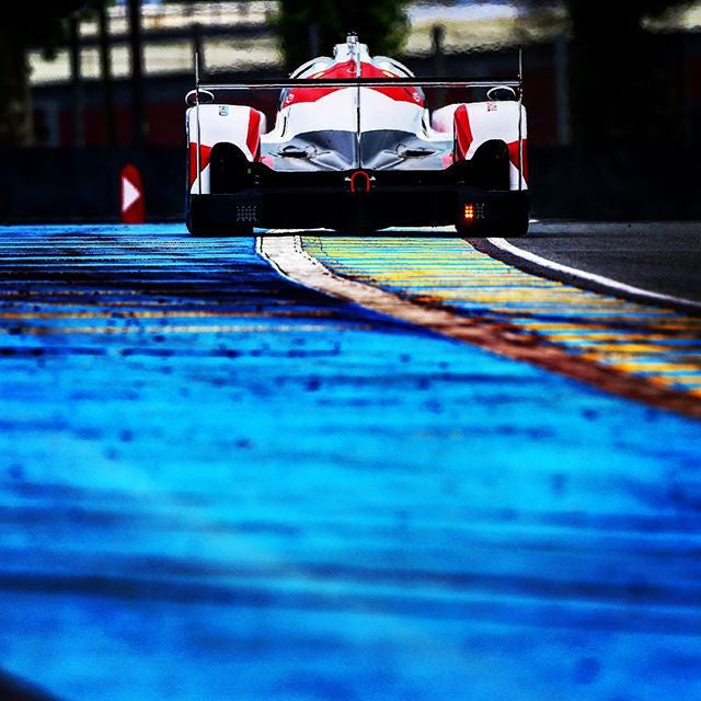 Another angle of our TS050 Hybrid at LeMans official test.