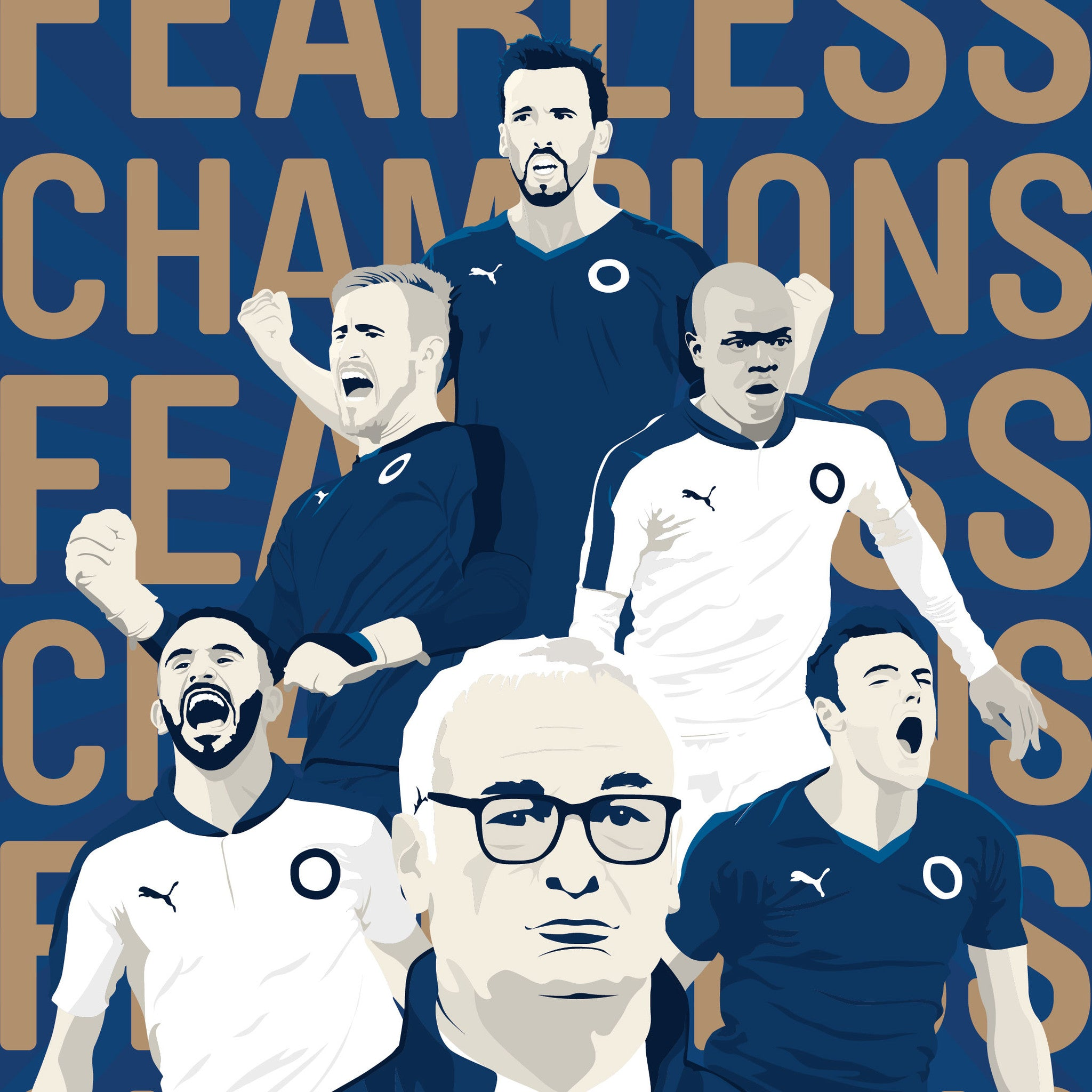Champions 2015/16: Fearless Children's T-Shirt