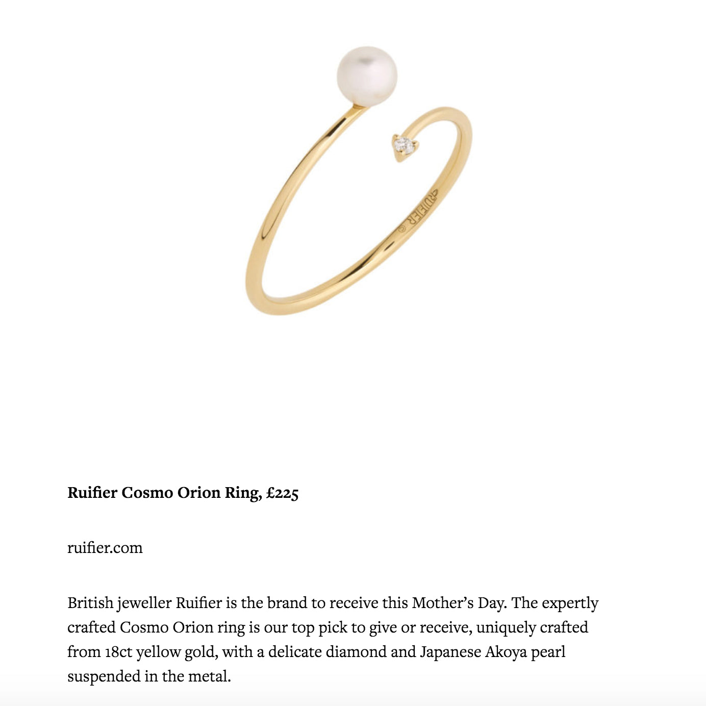 RUIFIER Cosmo Orion Ring